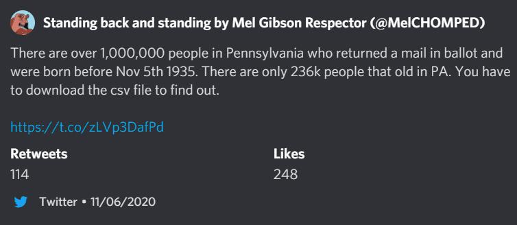 1M elderly PA voters?